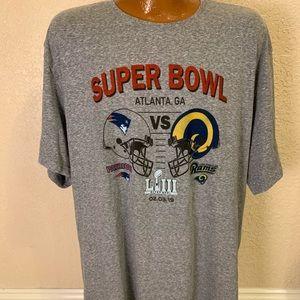 2019 NFL Super Bowl Patriots vs Rams T-shirt. 2XL